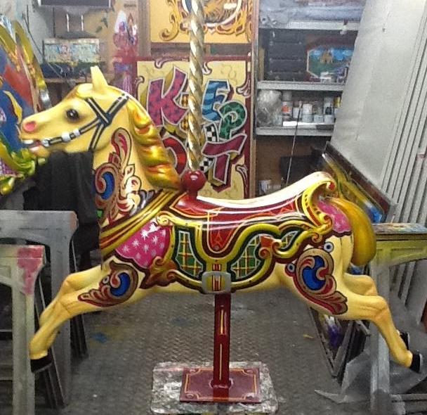 Traditional Fairground Galloper Carousel Horses
